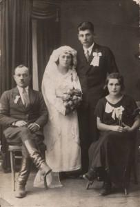 Bronisława i Józef Dobzański- zdjecie ślubne 17.11.1935