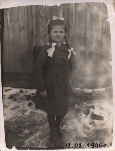 Celestyna Dobrzańska- z tornistrem