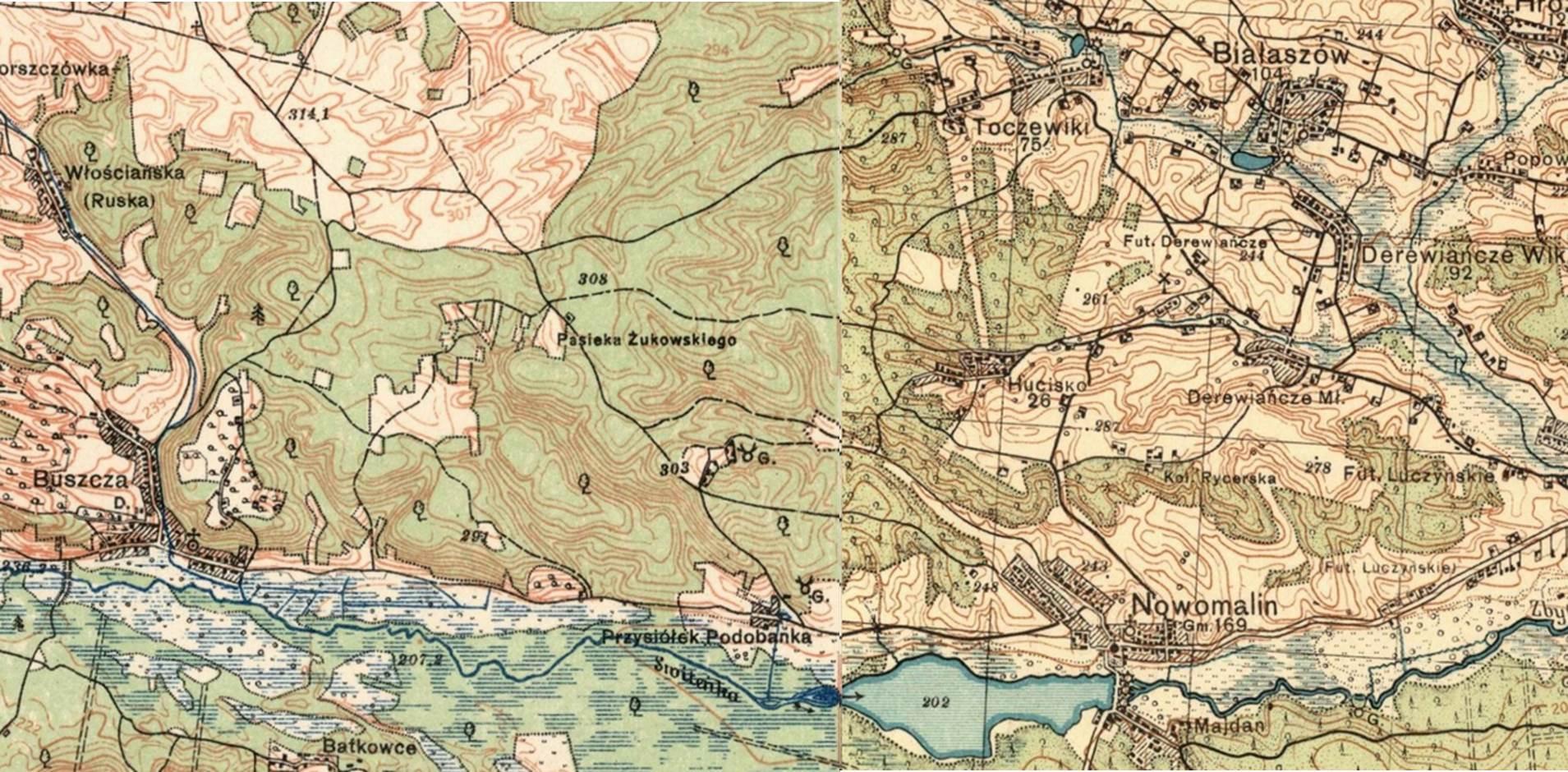 Hucisko i okolice- mapa