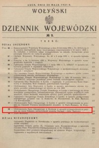 Wołyński Dziennik Wojewódźki nr 9