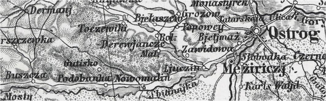 Wycinek mapy z roku 1875