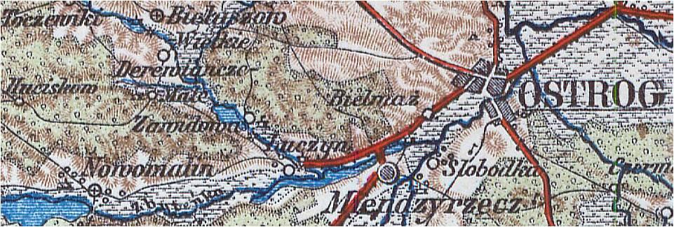 Wycinek mapy z roku 1897