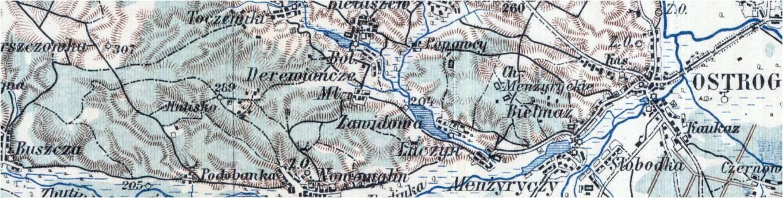Wycinek mapy z roku 1913