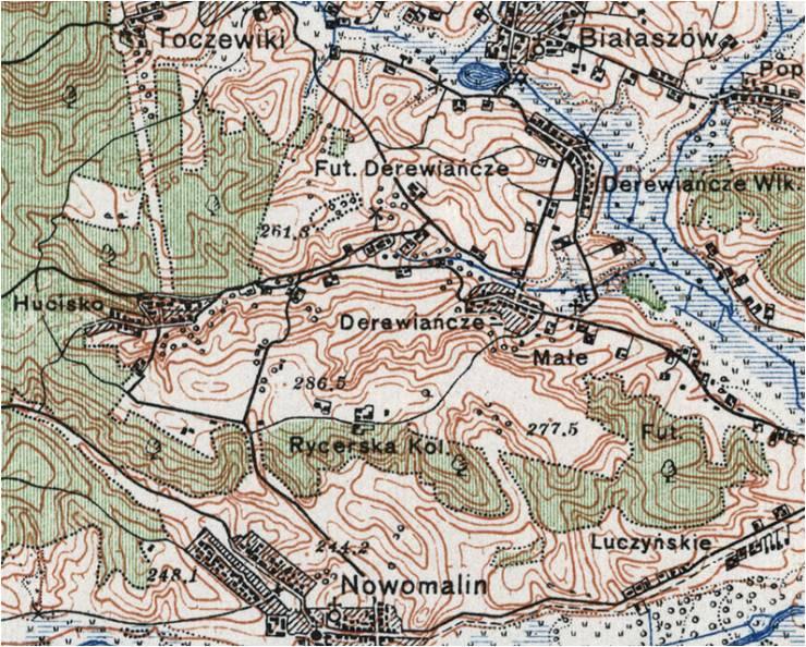 Wycinek mapy z roku 1924