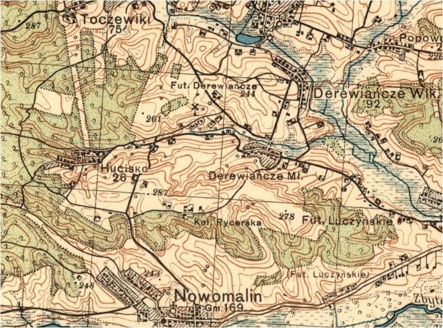 Wycinek mapy z roku 1926