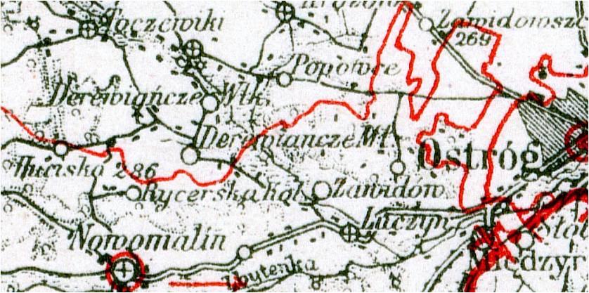 Wycinek mapy z roku 1937