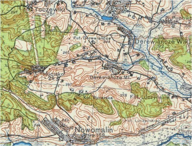 Wycinek mapy z roku 1941